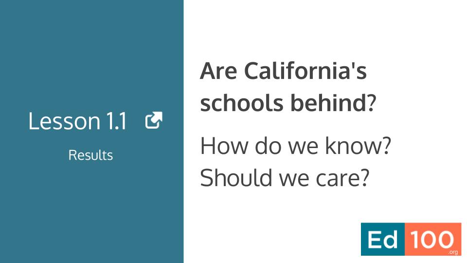 Ed100 Lesson 1.1 - Are California Schools Behind?