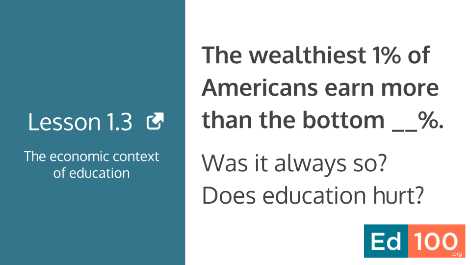 Does the education make inequality worse?