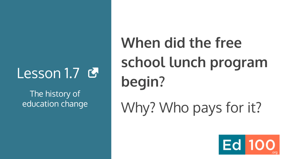 How does the school lunch program work?