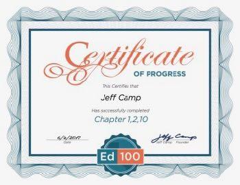 Ed100  Certificate