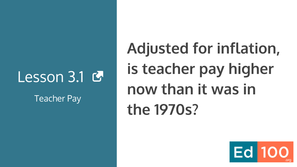 Ed100 Lesson 3.1 - Has Teacher Pay Increased?