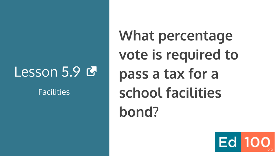Ed100 Lesson 5.9 - What does it take to pass a school bond?
