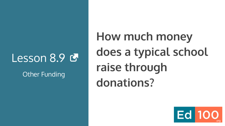Ed100 Lesson 8.9 - How much money does a typical school raise through donations?
