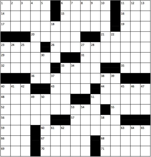 ed100 crossword blank